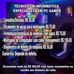 Técnico em informática - Especialista em PC Gamer