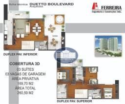 Cobertura Duplex com 3 suítes à venda, 169 m² por R$ 826.200 - Icaray - Araçatuba/SP
