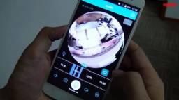 Camera Ip 360° HD Panorâmica Lampada Led Wifi Celul 3g Espiã