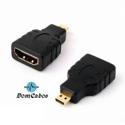 Adaptador Micro Hdmi Macho X Hdmi Femea 1080p Full Hd 4k 3d