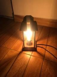 Luminária estilo lampião - Acompanha Lâmpada retrô