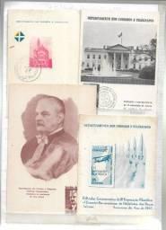 olx0046 lote 370 selos e folhinhas postais do brasil ver fotos
