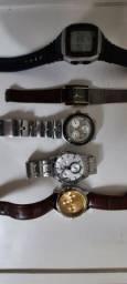 relógios diversas marcas todos funcionando perfeitamente