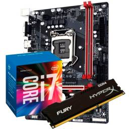 Kit placa mãe + Core i7 + 8gb ram