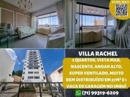Villa Rachel, 2 quartos, nascente, vista mar, ventilado e 1 vaga na garagem no Imbuí