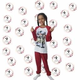 Pijama infantil personagem 02 à 12 anos