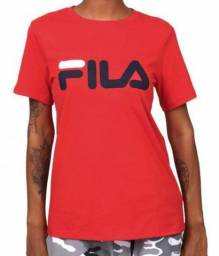 Camiseta Feminina Fila Vermelha - Tam. P