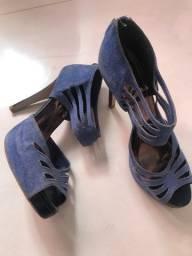 sandalia colcci azul meia pata nr. 37