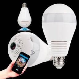 Super câmera lâmpada inteligente 3D 360°