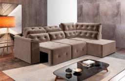Sofá de canto retratil e reclinavel