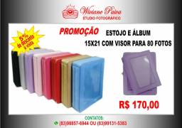 Álbum e Estojo com visor para 80 Fotos 15x21