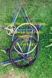 Vendo essas peças de bicicletas com o quadro