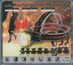 Lanterna De Cabeça Resistente A Chuva Leve Headlamp Td-852c