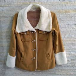 Casaco de lã batida tamanho M