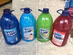 Kit Produtos Limpeza 5L 4 Itens Limpa Mais Sabão Amaciante Desinfetante Detergente