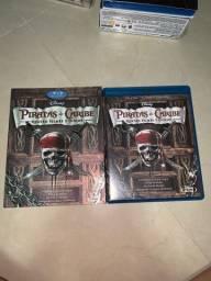 DVD Blu-ray Piratas do Caribe 4 filmes