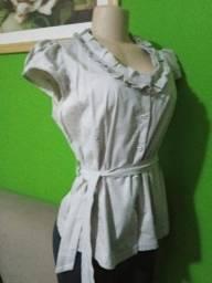 Título do anúncio: Blusa Feminina Cinza NOVA - Tamanho 44