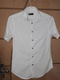 Camisa de botão 100% algodão