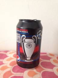 Lata Pepsi Black Champions League 350ml Vazia Ler tudo