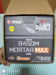 Plana mãe b450-M Mortar Max e processador Ryzer 5 3500x