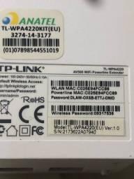 Extensor Powerline Wifi Tp-link Av600 Tl-wpa4220kit 300mbps