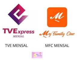 Tv Express ou My Family cinema, recarga mensal envio imediato