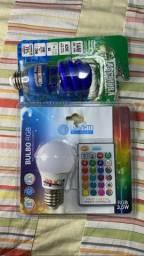 Lâmpada LED RGB e Florescente