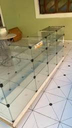 vendo balcões de vidro