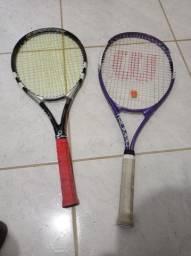 Raquetes Wilson e Babolat