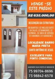 Casas sobrepostas, excelente localização, em Santo Antonio de Jesus-Ba