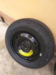 Vendo Roda 15 5x100 com pneu Pirelli Novo