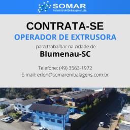 Vaga para Operador de Extrusora em Blumenau - SC