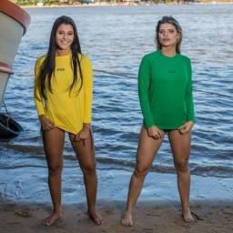 Camisa Feminina com proteção uv50+ Fitness Praia Esporte Pesca