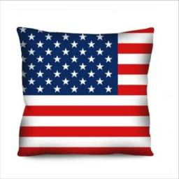 Almofada 45cm estampada Estados Unidos / Reino Unido