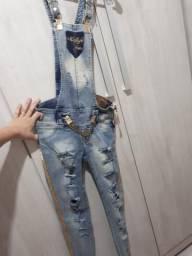 Macacão jeans Mallyfe