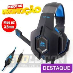 Fone De Ouvido Headset Gamer Ps4 Xbox One Pc Celular Knup Kp-451