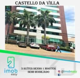 Castello da Villa, 3 suítes sendo 1 master, varanda gourmet (semi-mobiliado)