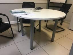 Mesa escritório redonda 1200mm x 74mm