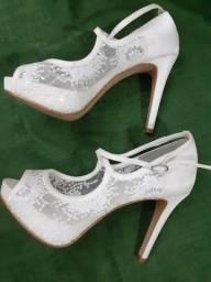 Sapato Noiva ou Festa Rendado