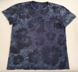 Camiseta Reserva Floral Marmorizada Azul M original