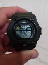 1124bea3227 Inacreditavel Relogio Casio GShock 200 Mt Original Grande Verde Militar