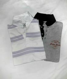 Camisa Polo Brooksfield e Camisa Polo Hering - Em Bom Estado