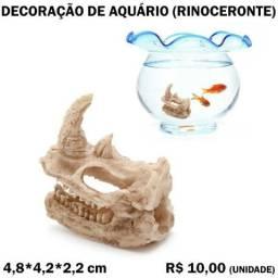 Título do anúncio: Decoração de Aquário: Rinoceronte