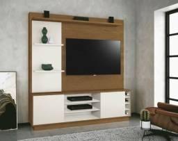 R$ 479,00 Estante Home Ópera Para TV até 55 ? EDN ? Naturale / Off white