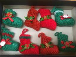Enfeite de Natal em tricô feito a mão