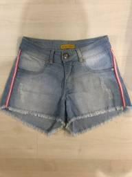 Short jeans com elastano tamanho 14