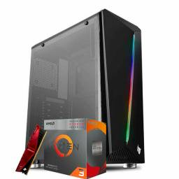 Computador Gamer Ryzen 3 3200g, 8gb RAM, SSD 128gb, 500w + GTA V Grátis
