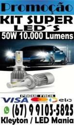FechaMês. Kit Super Leds 10mil lumens 50w. Pronta entrega, confira!!!