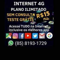 Internet dados móveis. 15 reais por mês