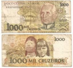 NOTA 1000 CRUZEIROS ORIGINAL.